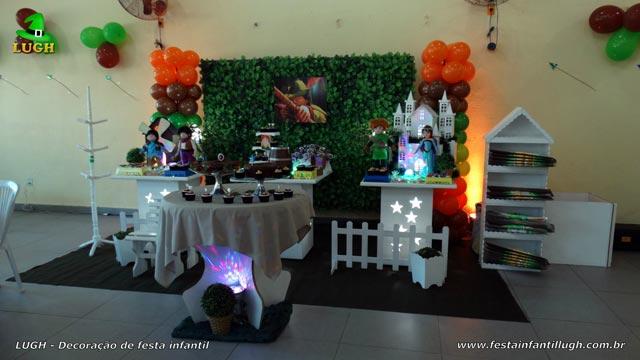 Decoração festa Robin Hood - Aniversário infantil - Mesa provençal simples