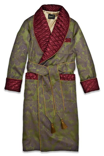 mens dark green silk robe burgundy smoking jacket cotton housecoat gentleman victorian robe old english
