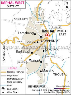 Imphal  Map