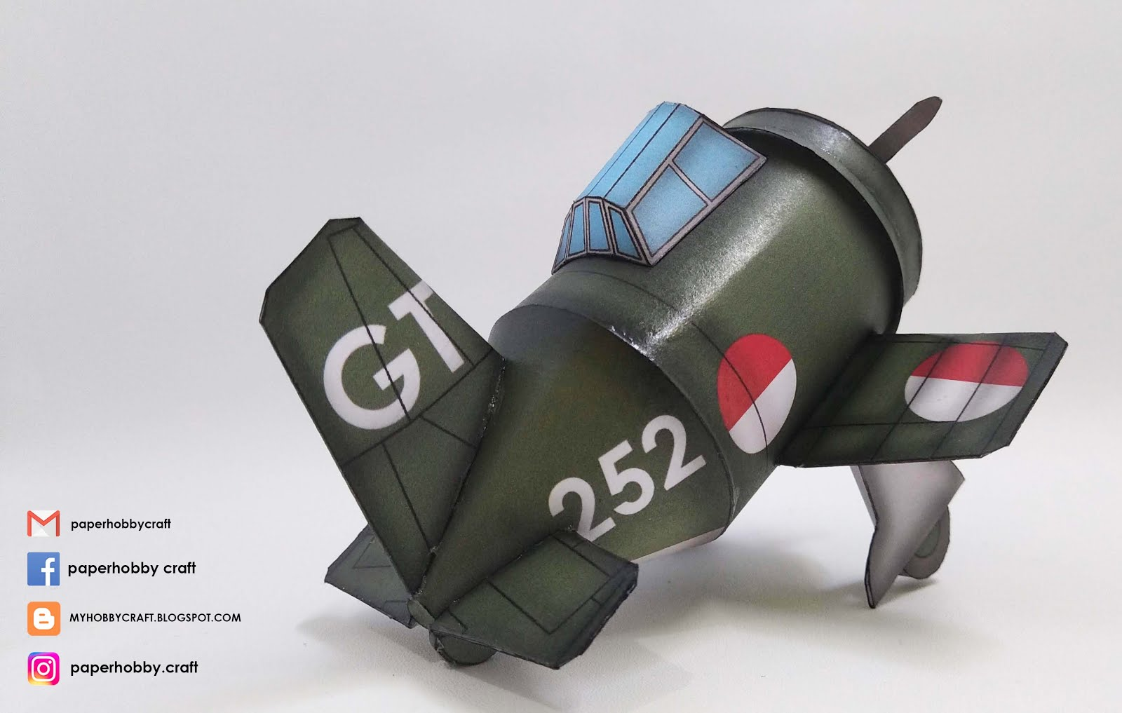 "KI-51 ""GUNTEI"" INDONESIAN AIR FORCE-TOON SCALE PAPERMODEL"