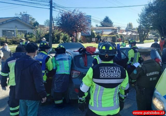 Osorno: Accidente de tránsito deja 4 personas lesionadas