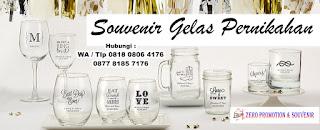Jasa Pembuatan Souvenir Gelas Kaca