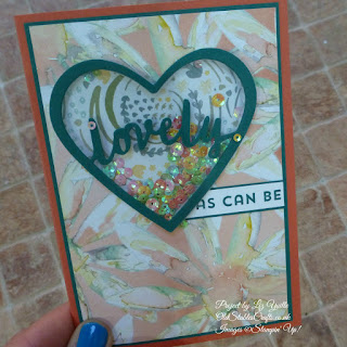 Lovely Inside and Out Shaker Card