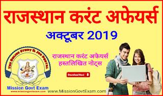 Rajasthan Current Affairs PDF