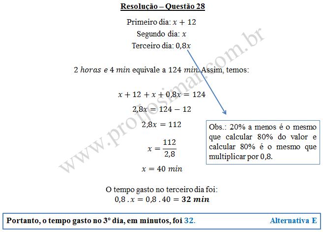 Questão 28 - Soldado PM de 14/12/2014