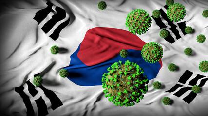 South Korea flag coronavirus art covid 19