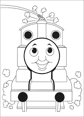 Gambar Mewarnai Thomas and Friends - 23