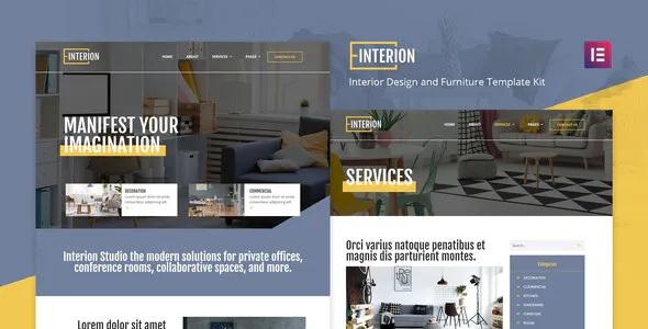 Best Interior Design Elementor Template Kit
