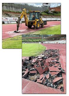 Obras Atletismo Aranjuez