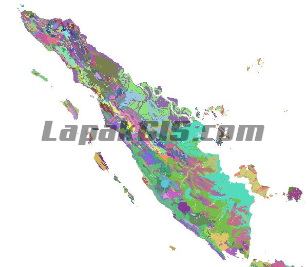 Peta Geologi Seluruh Indonesia format SHP Shapefile Full