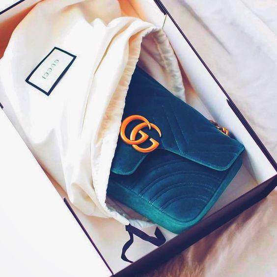 Gucci Velvet Marmont Bag