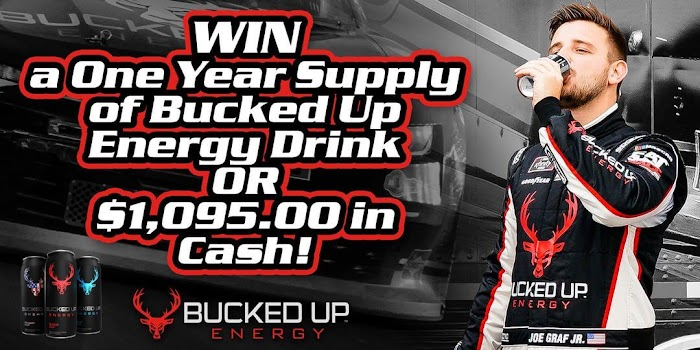 One year Supply of Bucked Up Energy Drink Giveaway (Worth Over : $1,095)