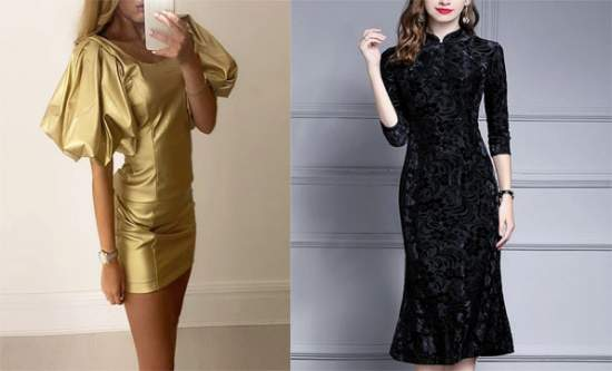 Penuh Gaya dengan Gaun Metallic Sequin Dress dan Black Dress