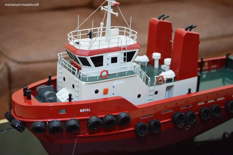 miniatur kapal royal tug boats rumpun artwork planet kapal harga murah bandung