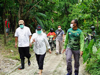 Susuri Jalan Terjal Hutan Sekidang-Sekonang, Bupati Bersama Dandim Bojonegoro Cek Desa Perbatasan