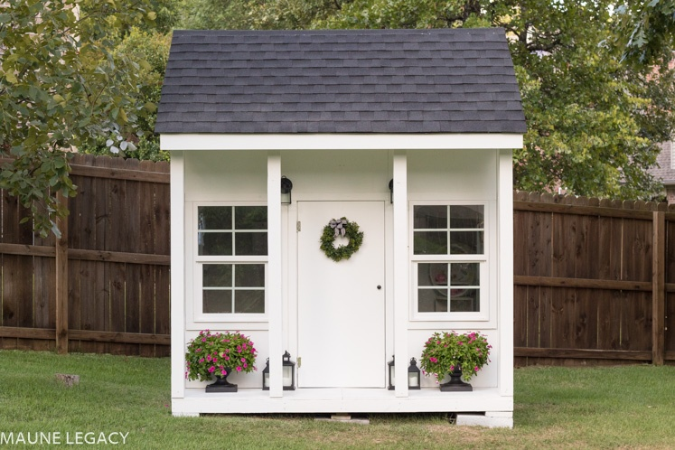 Outdoor playhouse with plans