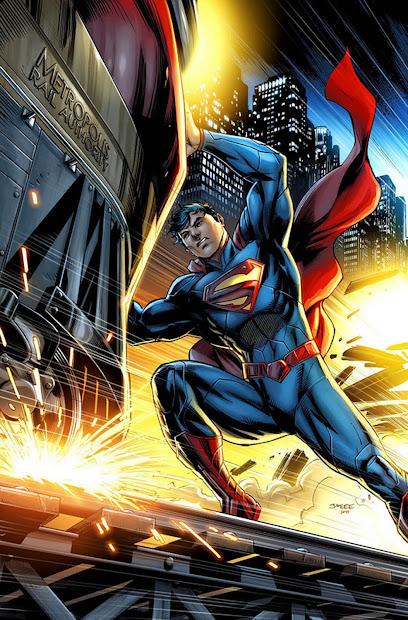 Superman New 52 Comic Art