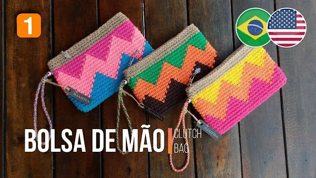 Tutorial Bolso de Mano o Clutch Bag a Crochet