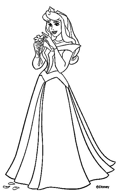 Disney Coloring Page: Disney Princess Aurora Coloring Pages