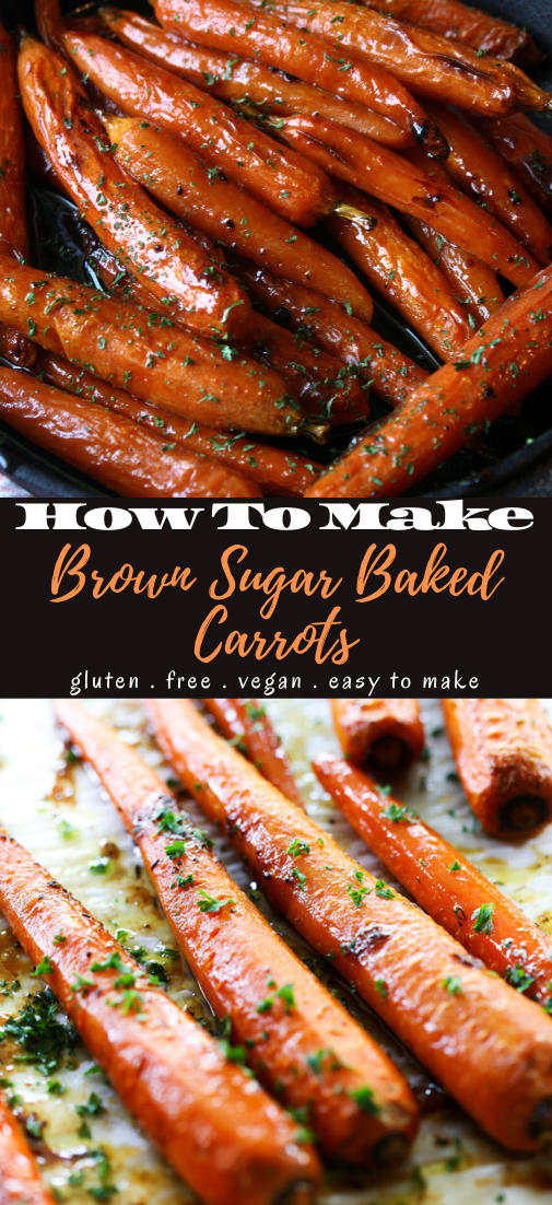 Brown Sugar Baked Carrots #healthyfood #dietketo #breakfast #food