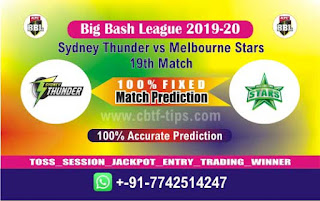 Dream 11 Team Prediction Star vs Thunder 19th Match BBL T20 Captain & Vice Captain