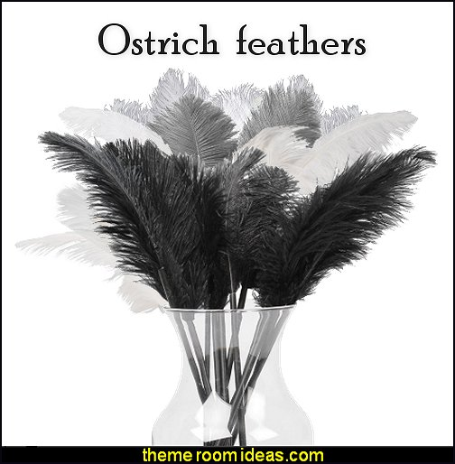ostrich feathers black, gray, white decorative ostrich feathers
