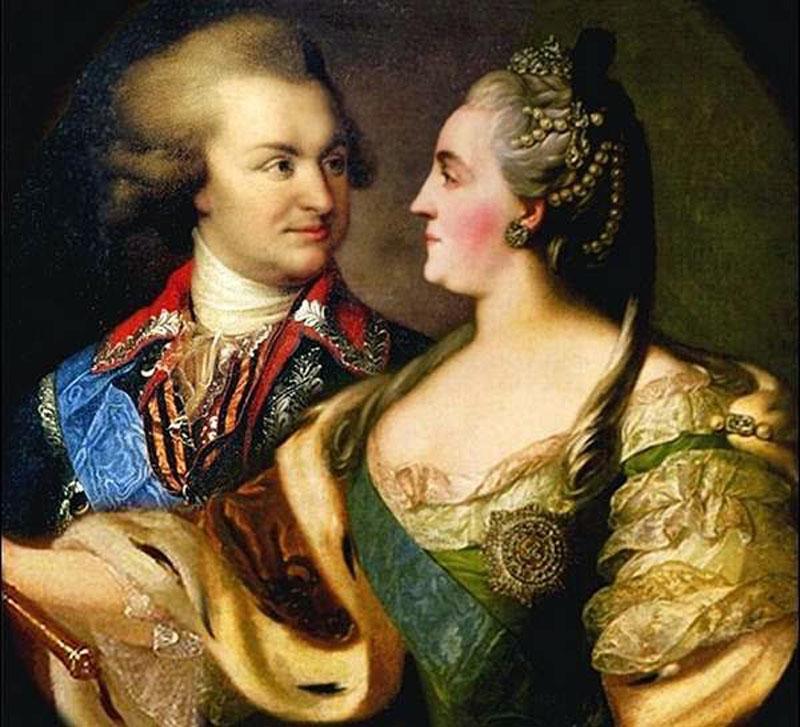 Екатерина II с Григорием Потемкиным