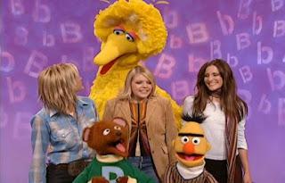 The Dixie Chicks sing No Letter Better Than B with Baby Bear, Big Bird and Bert. Sesame Street All Star Alphabet