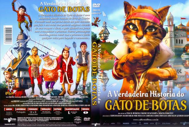 Capa DVD A Verdadeira História do GATO DE BOTAS