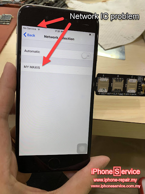 iPhone No service Network IC