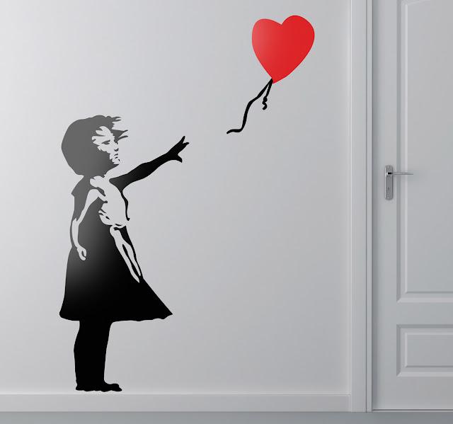 muursticker Banksy