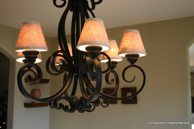 Burlap Chandelier Shades Made By Me