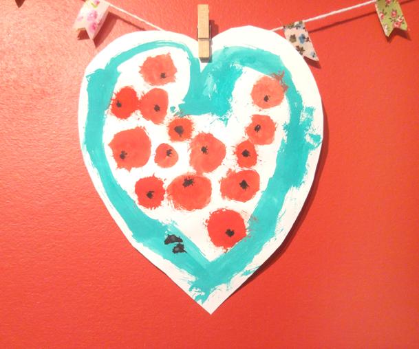 dibujo corazón de sandía