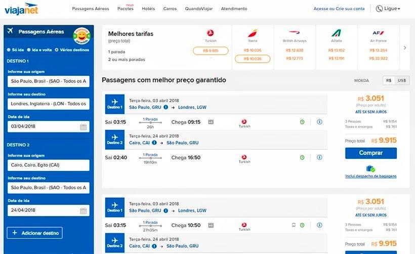 Onde e como comprar passagens aéreas - Viajanet