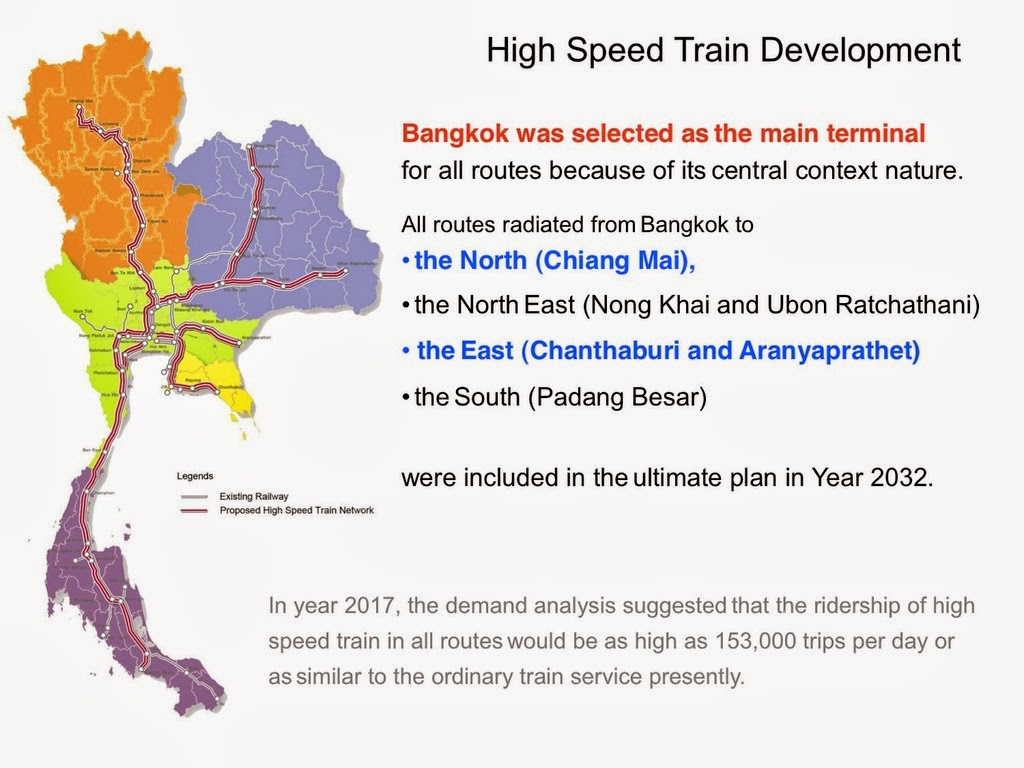 China getting some of the contracts for Thailands high speed rail