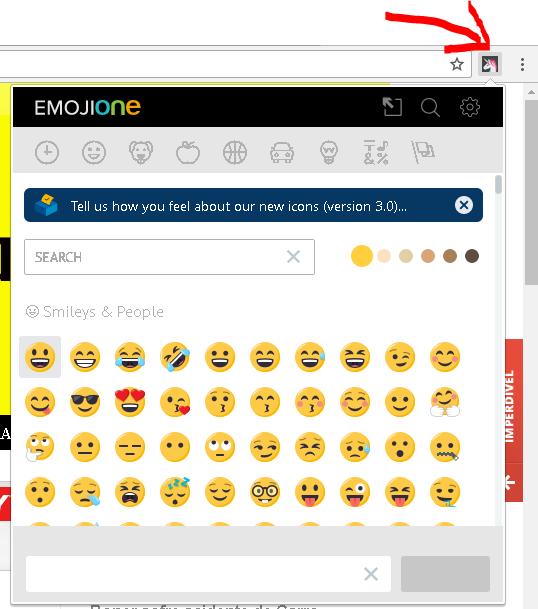 extensão emojione
