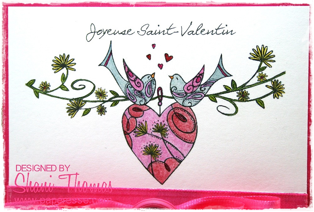 Paperesse French Valentines Day card idea with LC Designs Heart – French Valentines Cards