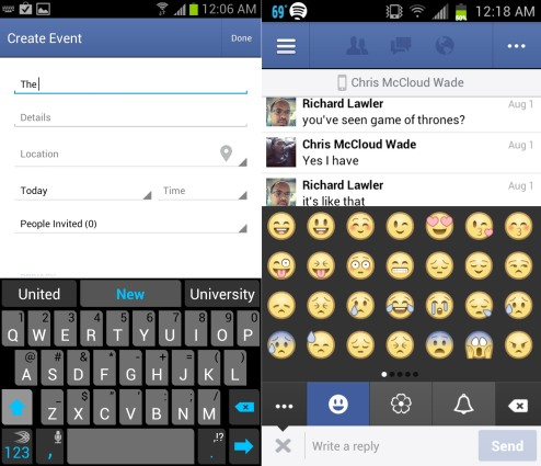 Emoji and Emoticon Facebook for Android