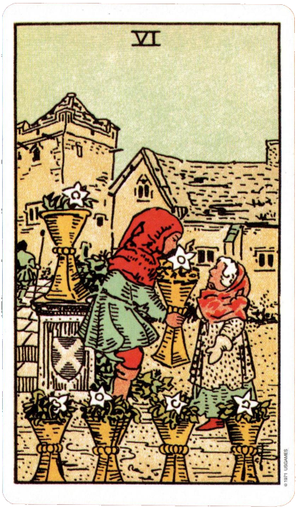 Greylady's Hearth: Daily Draw Exercise With The Six Of Cups