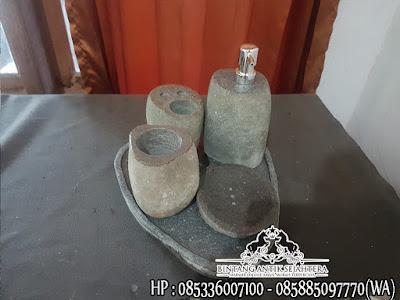 Tempat Sabun Batu Alam, Peralatan Mandi Batu Marmer, Tempat Shampo dan Sabun Cair