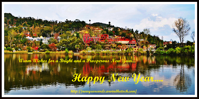 bright, prosperous, New Year card, Happy New Year card, HD Card
