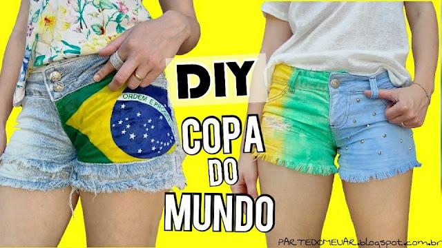 shorts customizados copa do mundo