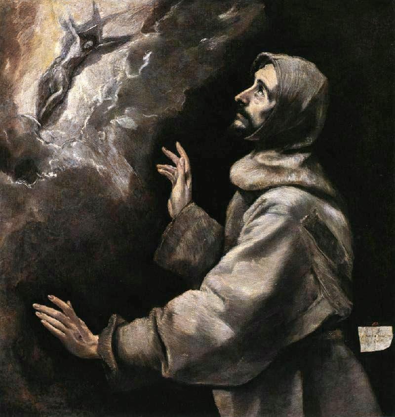 São Francisco Recebendo os Estigmas - El Greco e suas principais pinturas ~ Maneirismo