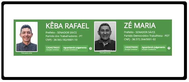 Kêba Rafael e Zé Maria registram candidaturas, que aguardam julgamento. Prazo encerra dia 26 de setembro!