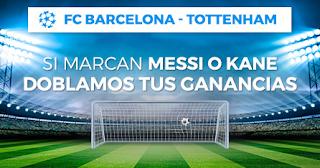 Paston Devolucion champions Barcelona vs Tottenham 11 diciembre