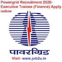 Powergrid Recruitment 2020, Executive Trainee Finance