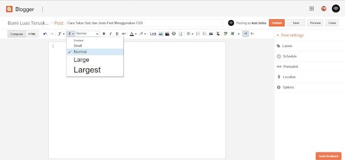 Cara Tukar Saiz dan Jenis Font Menggunakan CSS
