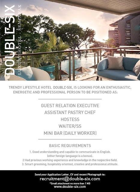 Lowongan kerja Double-six Luxury Hotel 2018