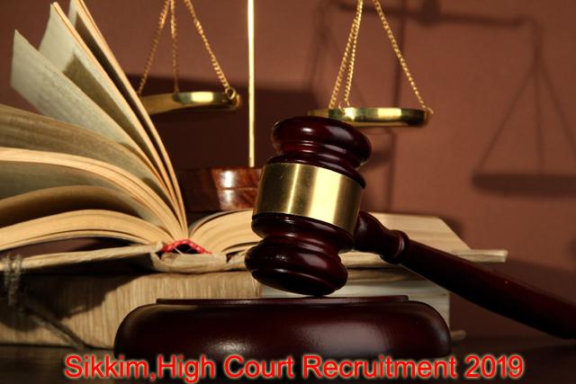 sikkim-high-court-recruitment-2019