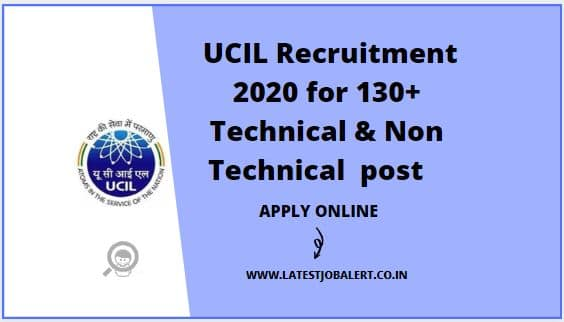 UCIL Recruitment 2020 for Technical & Non Technical post online form